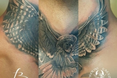 inferno-tattoo-barcelona-buho-negro-gris-cuello-frontal-christian-kurt
