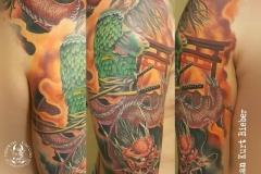 inferno-tattoo-barcelona-samurai-dragon-color-brazo-hombro-christian-kurt