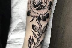 1_inferno-tattoo-barcelona-alex-baens-rosa-black-work-negro-gris-grande-brazo