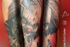 inferno-tattoo-barcelona-christian-kurt-payaso-diabolico