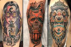 inferno-tattoo-barcelona-raul-leone-neotradicional-piezas-convenciones-brazo-grande-pierna