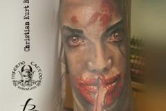 inferno-tattoo-barcelona-realismo-color-christian-kurt-bieber-grande-brazo-antebrazo-rostro