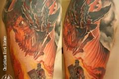 inferno-tattoo-barcelona-realismo-color-christian-kurt-bieber-grande-brazo-sant-jordi