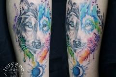 tattoo-barcelona-acuarela-joel-federico-bieber-grande-brazo-cara-lobo
