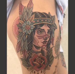 inferno-tattoo-barcelona-zaragoza-tattoo-convention-pieza-guerrera-neotradicional-anna