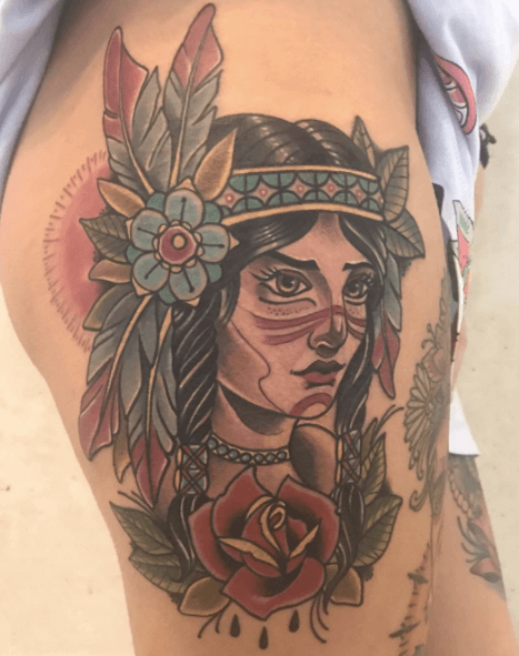 inferno-tattoo-barcelona-zaragoza-tattoo-convention-pieza-guerrera-neotradicional-para-anna
