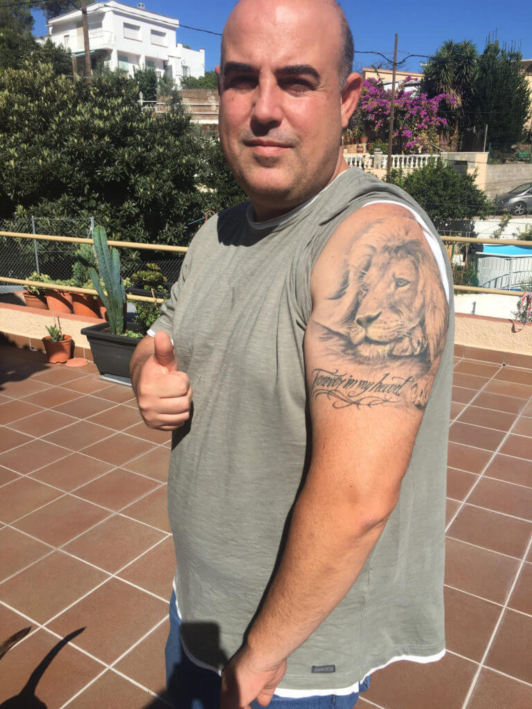 Opiniones sobre tatuajes. Un León para Javi.