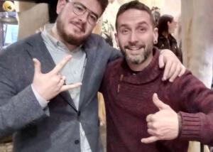 Con el ganador del concurso de la Only Tattoo Barcelona