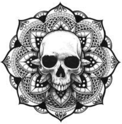 Dibujo de tatuajes de calaveras