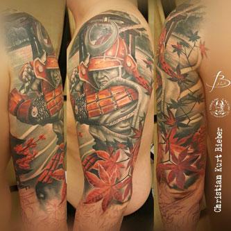 inferno-tattoo-barcelona-realismo-color-christian-kurt-bieber-grande-brazo-samurai-japones