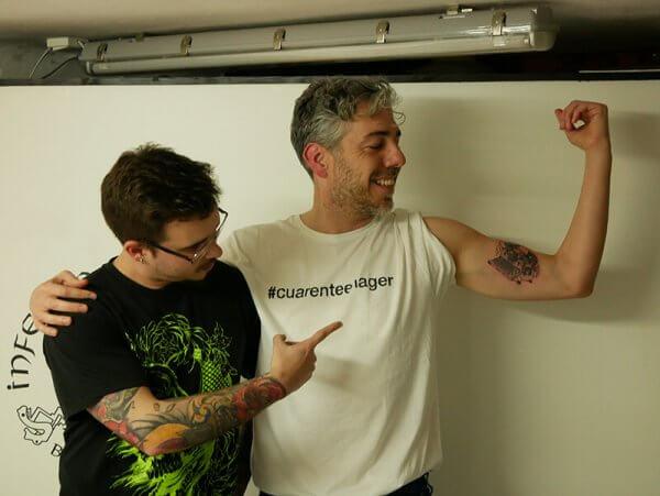Orgullosos del resultado final del tattoo