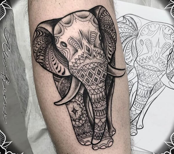 elefante-pierna-gemelo-dot-work-blackwork-alex-baens-mediano