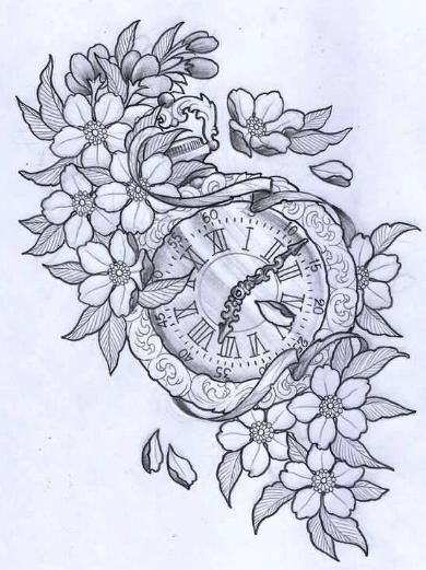 dibujo-tattoo-reloj