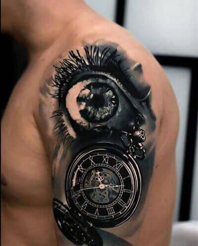 ojo-reloj-realismo-tattoo