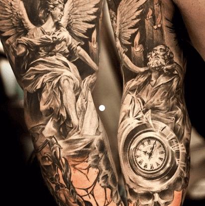 realismo-negro-gris-retratos-con-detalle-reloj