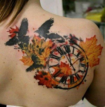 reloj-pajaro-acuarela-tattoo