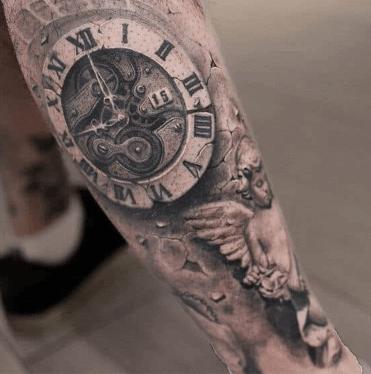 tattoo-reloj-mecanismo-efecto-piedra-textura-realista