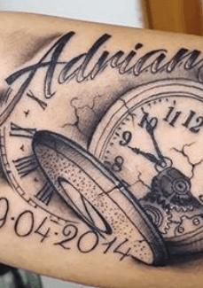tattoo-reloj-nacimiento-lettering
