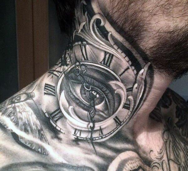 tatuaje-cuello-ojo-reloj