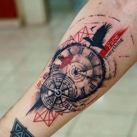 tatuaje-de-reloj-mecanismo-trash-polka