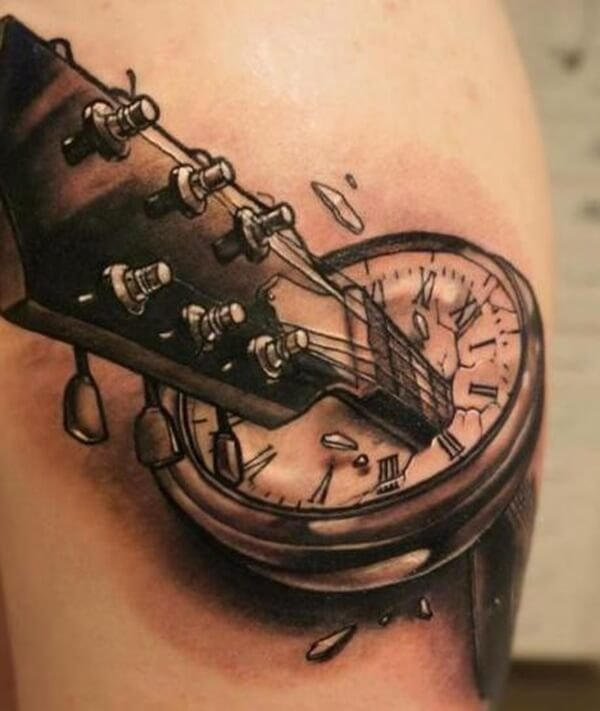 tatuaje-guitarra-reloj