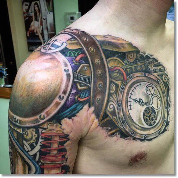 tatuaje-realismo-color-reloj-mecanismo