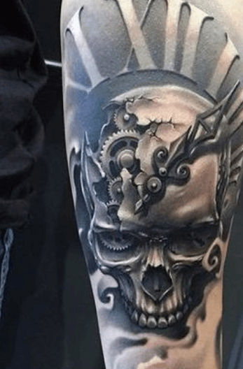 tatuaje-reloj-calavera-realismo