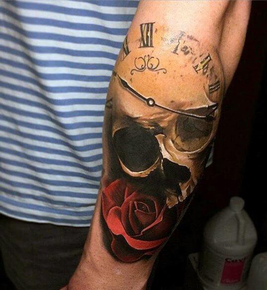 tatuaje-reloj-calaveras