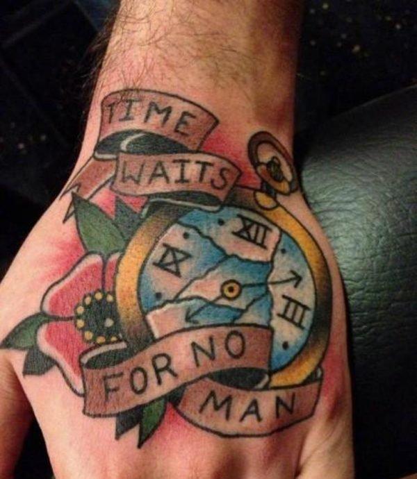 tatuaje-reloj-tradicional-estilo