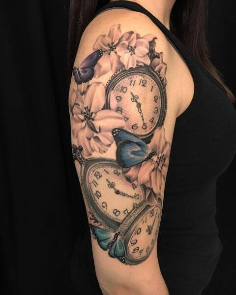 tatuaje-relojes-pulsera-mariposas-azules
