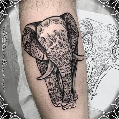 ganesha-hindu-mandala-tattoo-black-work-geometrico-alex-baens-pierna-grande