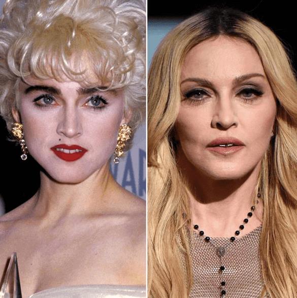 Cejas de Madonna, el icono de la música antes y después de la micropigmentación de cejas