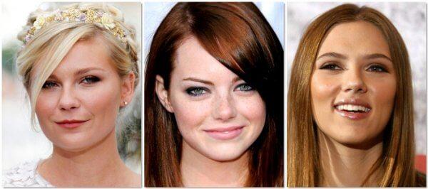 Jennifer Lawrence, Emma Stone y Scarlett johansson tienen la cara redonda