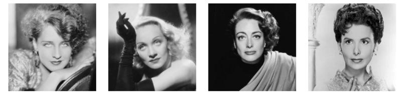 Historia de la moda de las cejas, años 30 y 40