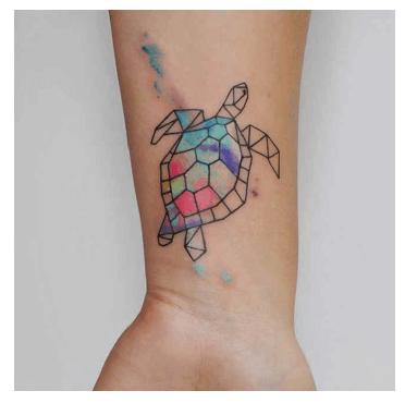Tatuajes pequeños para mujeres, tortuga